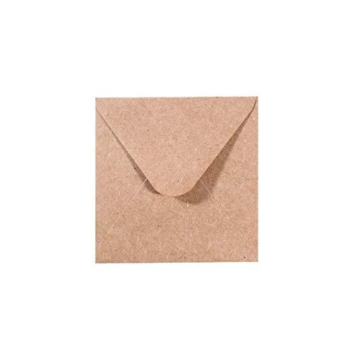 Vaessen Creative Florence Briefumschläge Quadratisch Klein Kraft Braun, 25 Stück, für Geburtstagskarten, passende Faltkarten erhältlich
