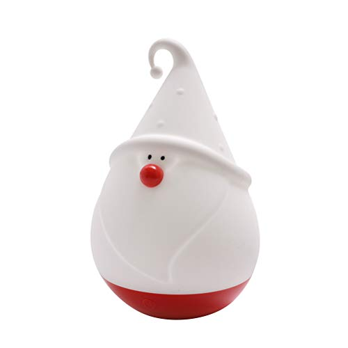 PRETYZOOM - Lámpara de noche de silicona, diseño de muñeco de nieve