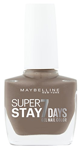 Maybelline New York Make-Up Superstay Nailpolish Forever Strong 7 Days Finish Gel Nagellack Rosy Sand / Farblack mit ultra starkem Halt ohne UV Lampe in elegantem Braun, 1 x 10 ml