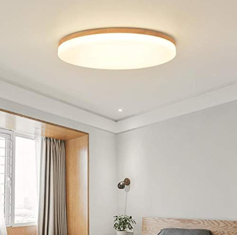 Runde japanische Deckenleuchte Holz führte moderne kreative Wohnzimmer Schlafzimmer Studie Massivholzlampen