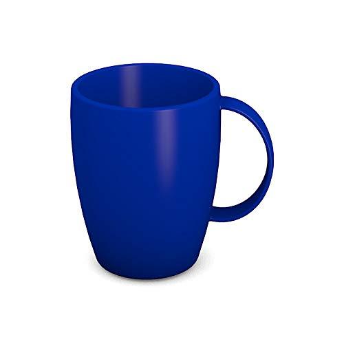 Ornamin Becher mit Henkel 260 ml blau (Modell 420) / Mehrweg-Becher Kunststoff, Kaffeebecher