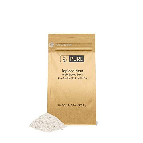 Tapioca Flour (2 lb.) by Pure, Eco-Friendly Packaging, Also Called Tapioca Starch, Fine White Powder, Gluten-Free, Non-GMO