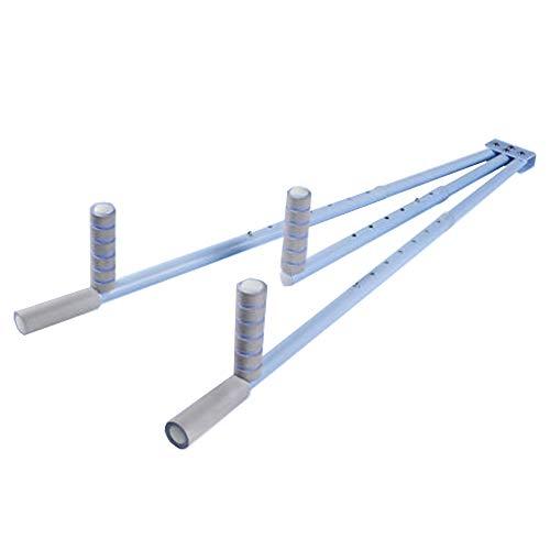 Beinstrecker Stahlmaterial, Beinstrecker Flexibilität Für Ballett, Yoga, Tanz, Kickboxen Und Gymnastik (Blau/Rosa),Blau,1