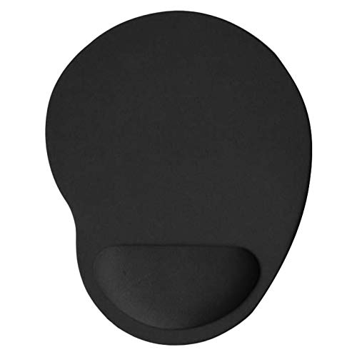 Wrist Rest Mouse Pad, Home Office Solid Color Anti-Slip Gaming Mouse Pad Mice Mat with Wrist Support Black