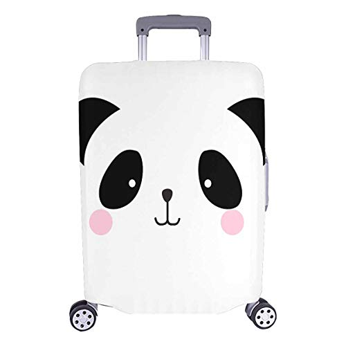 InterestPrint Cute Panda Bear Face Comic Animal Travel Luggage Cover Baggage Protector Suitcase Fits 26'-28' Luggage