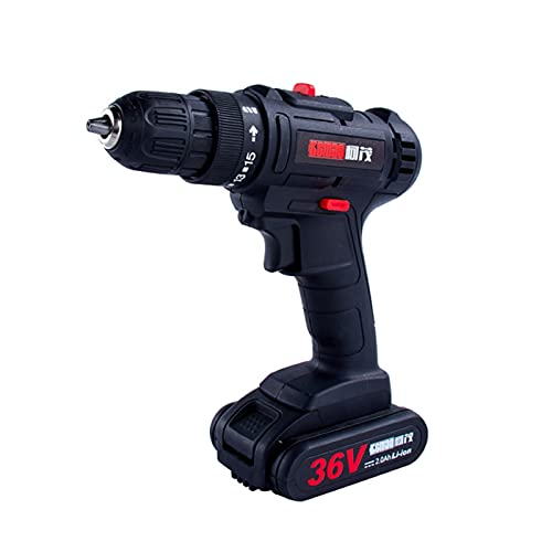 HOUSEHOLD Electric screwdriver driver, 36V lithium rechargeable drill driver with stepless speed control, electric drill set, used for car repair and home assembly