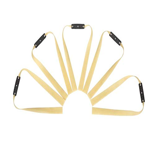 CHAO 5 Pieces 1.2mm Thickness Heavy Flat Rubber Band for Slingshot/Flat Slingshot Bands Replacement/Hunting Catapult Elastic Bungee
