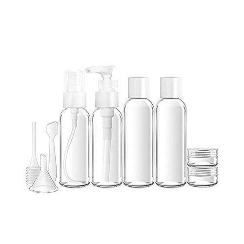 Beeria Kit complet de bouteilles de voyage pour avion autorisé dans une cabine de toilette pour l'aéroport Vacances Kit de voyage en avion Assortiment de bouteilles adaptées au shampooing et au spray