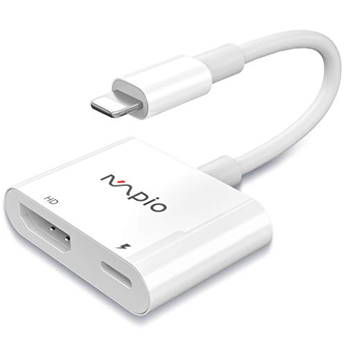 MPIO Lighting Adaptador HDMI para teléfono - Cable HDMI 1080P HDTV Compatible con Phone XS/XSmax/XR/X / 8/7/6 / Plus, Tablet,Pod