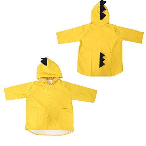 Regenjas met capuchon, regenbestendige cape, waterdichte jas, stof voor jongens, meisjes, poncho, herbruikbare regenkleding met transparante hoed, niet-elastische manchetten(L)