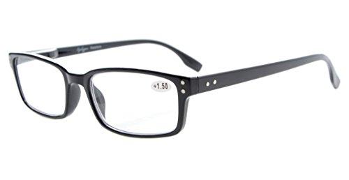 Eyekepper Klassische Qualitätslesebrille rechteckige Fassung mit Federscharnier in Schwarz +1.00