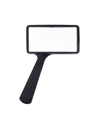 Jumbo Rectangular Handheld Magnifying Glass (3X Magnification) – Scratch Resistant Glass Lens - Large Horizontal Viewing Area