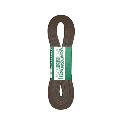 """Moneysworth & Best 72"""" Leather Shoe and Boot Laces-Brown"""