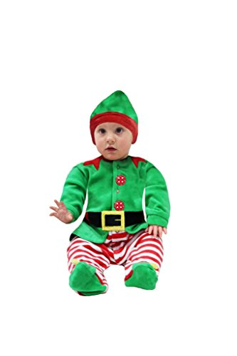 elfo di natale neonato ( 74 cm )7-9 mes