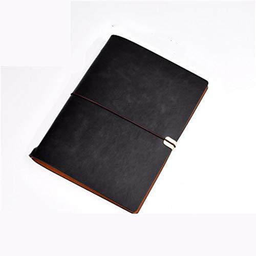 A6 Cuaderno Libro De Mano Cuaderno Retro Correas Creativas Cuaderno PortáTil De Cuero De ImitacióN (2 Piezas) 23.5 * 17.5 Cm