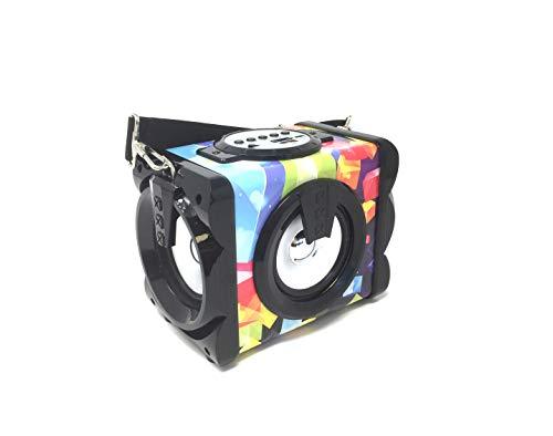 Altavoz Portátil Sakkyo APM60 Multicolor de 10W RMS con accesso a Radio FM, MP3, USB, Micro SD AUX in y Bluetooth