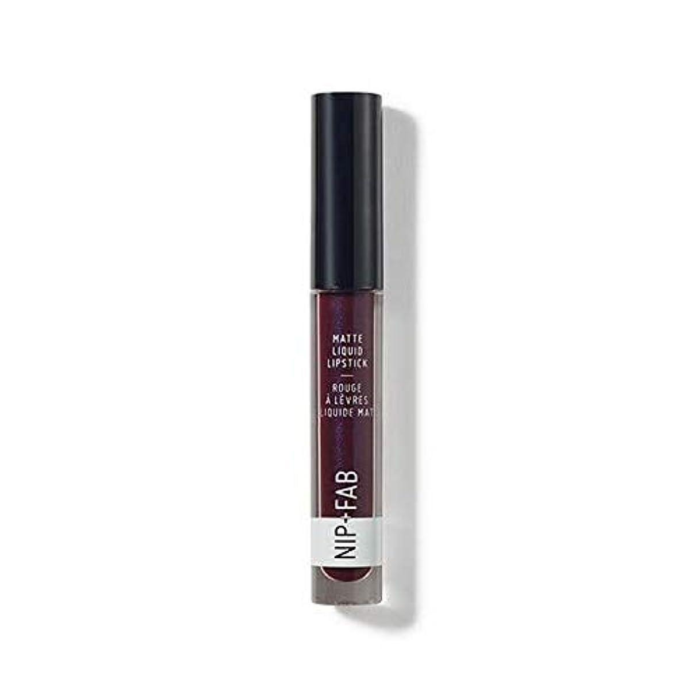 主張する追加ライター[Nip & Fab ] + Fabマット液体口紅ブラックグレープ55ニップ - Nip+Fab Matte Liquid Lipstick Black Grape 55 [並行輸入品]