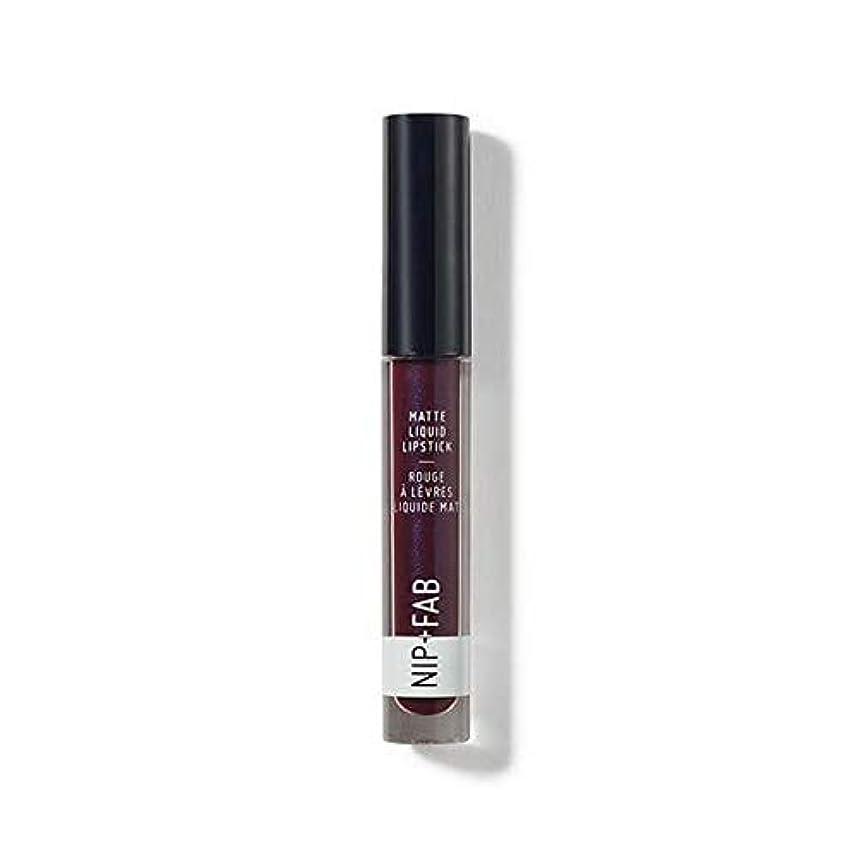 密輸たくさんの哲学[Nip & Fab ] + Fabマット液体口紅ブラックグレープ55ニップ - Nip+Fab Matte Liquid Lipstick Black Grape 55 [並行輸入品]