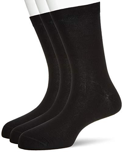 Amazon Brand – Symbol Men's Calf Socks (Combo Pack of 3)(Colors & Print May Vary)
