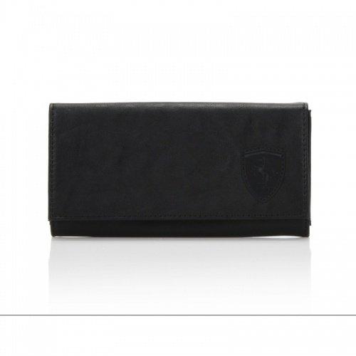 Ferrari Original Damen Brieftasche/Geldbeutel schwarz Wappen