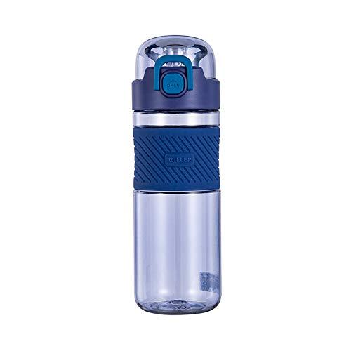 Botella Agua Gimnasio Botella Agua Gran Botella de Agua Los niños Botellas de Agua Botellas de Bebida para Adultos Deportes Botellas de Bebidas Blue,nostraw