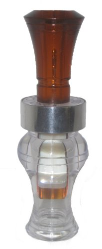 Echo Calls Timber Poly Double Reed Duck Call, Bourbon/Water