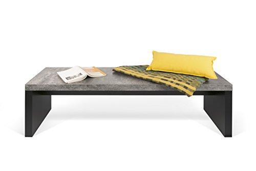 TemaHome Banc, béton mélaminé, Noir, 140 x 38 x 43 cm