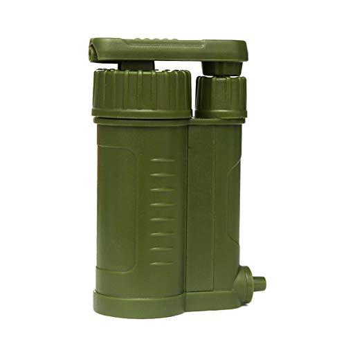 Top-element Portable Purificateur d'eau en Plein Air Camping 0,01 Micron d'urgence Sac À Dos Filtre À Eau pour La Randonnée avec 3-étape Filtre Pompe, pour La Randonnée d'urgence Randonnée