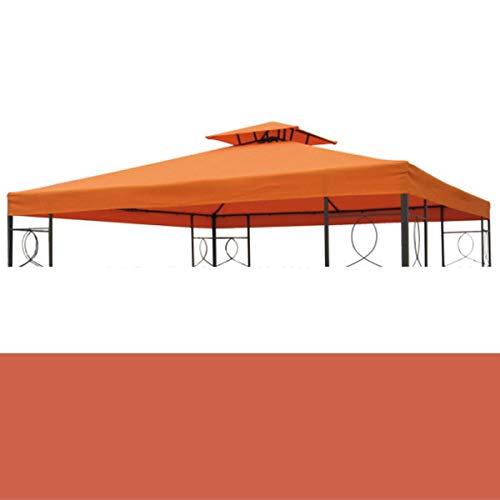 bonsport Pavillon Ersatzdach 3x3 m wasserdicht - Dach Ersatzbezug mit Kaminabzug, Terracotta