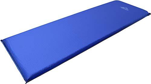 normani Camping Thermo Matte selbstaufblasend - Gute Isolierung und Polsterung Farbe SurfBlue/DarkShadow Größe 197 x 64 x 7 cm