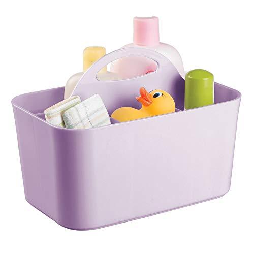 mDesign Caja organizadora con asa para habitación Infantil – Organizador para Accesorios...
