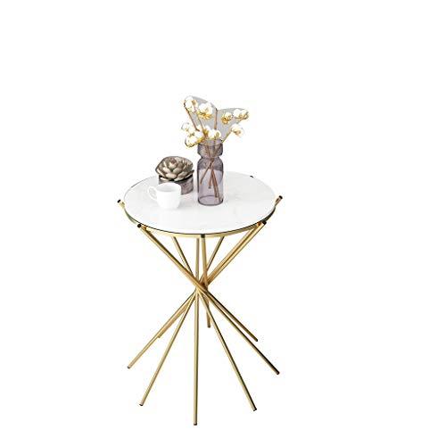 Table Family CSQ metalen bijzettafel, huishoudbank, salontafel van glas, banket, decoratieve bloemenstandaard, marmeren tafelwaterdichte duurzame salontafel