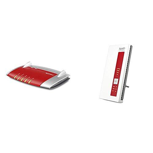 AVM FRITZ! Box 4040 AC 1300 International Router Wi-Fi, Dual Band, Rete Mesh, Interfaccia Italiano + WLAN Repeater 1750E Range Extender Wi-Fi Universale AC 1750