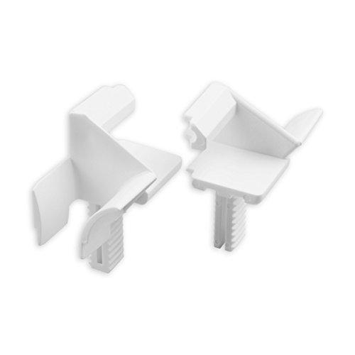DIWARO® Einlauftrichter für Mini-Rolladen Führungsschienen, für Blendenkappen an Vorbaurolladen | für Standard Profil | 16 mm | weiß