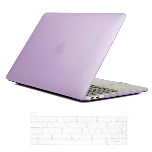 Se7enline Mac Book Pro 13 inch Case 2020 Plastic Hard Shell Laptop Cover for MacBook Pro 13.3-inch Model A2338/A2251/A2289 with Touch Bar Touch ID with Silicone Keyboard Skin, Light Purple