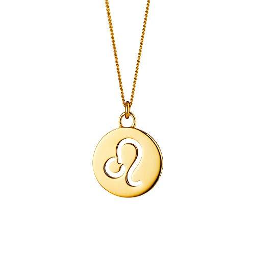 Cai Damen Halskette 925/- Sterling Silber 50+5cm Glänzend gelb 135240002-55-LÖ