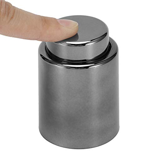 AMONIDA Ahorrador de Vino, tapón de Botella, método de Almacenamiento Duradero sin Aire Aspiradora para Restaurante de Hotel Accesorio de Cocina para el hogar(Gray-Black)