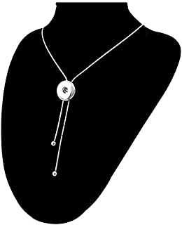 New Sale Charm Necklace Pendant Pull Closure Drill Fit 18mm Noosa Snap Button D1