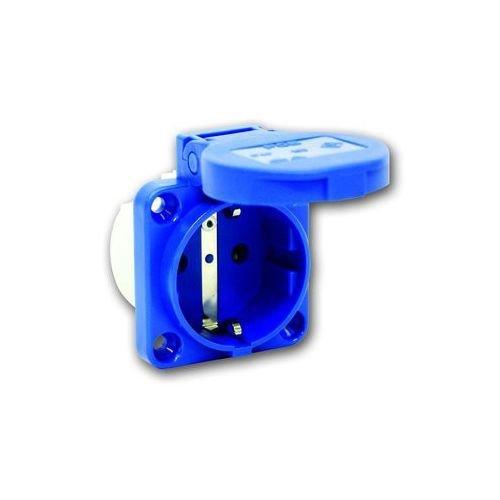 PC-Electric PCE1050B Einbausteckdose 50x50 blau IP54, 250 V