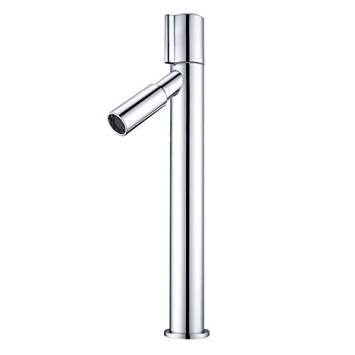 KAIBOR Wasserhahn Bad Amatur für Aufsatzwaschbecken, hoch Waschtischarmatur Mischbatterie Waschtisch Armatur für Bad, Chrom