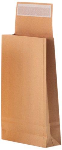 Bong 14332 Faltentasche mit Klotzboden C4+ (230 x 350 x 38mm) Kraftpapier 170 g/qm, Haftklebung mit Abdeckstreifen, VE = 125 Stück, creme