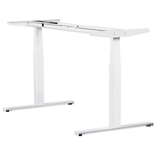 boho office® EASYDESK Line elektrisch stufenlos höhenverstellbarer Schreibtisch in Weiß mit gratis APP-Steuerung, hochsensiblen Kollisionsschutz und Soft-Start/Stop