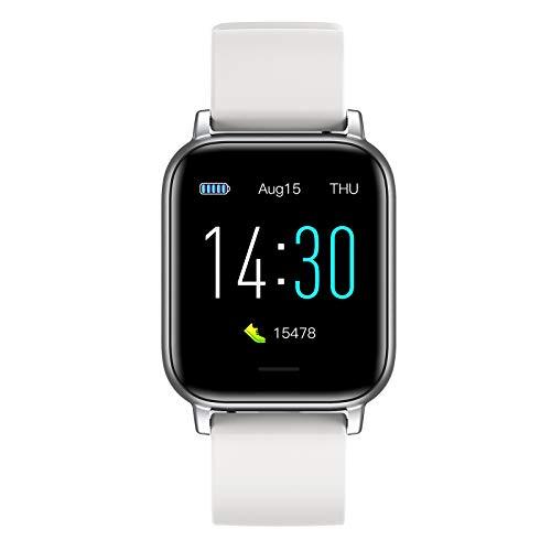 Reloj inteligente con pantalla táctil de 1,3 pulgadas, rastreador de actividad física con monitor de frecuencia cardíaca y presión arterial, monitor de sueño, reloj impermeable para iPhone Android
