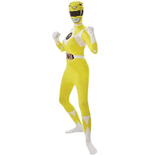 Rubie's Offizielles gelbes Power Ranger Superhelden-Kostüm für Damen, Erwachsenen-Kostüm.