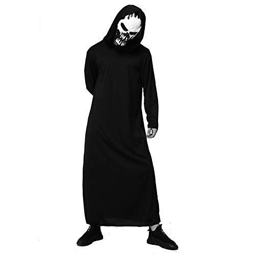 LLSS Cosplay Halloween Navidad Novedad Regalo Disfraz para niños Capa Manto Esqueleto Muerte Mago Demonio murciélago Fantasma