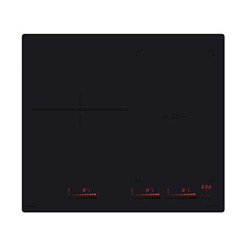 INDUCTION - 3 foyers dont 1 zone Flexi 18x44 cm 3,7 kW - 3 min. - Slider - Noir