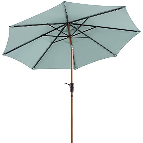 OUTSIDER 9ft Sunbrella Patio Umbrella Aluminum Outdoor Table...
