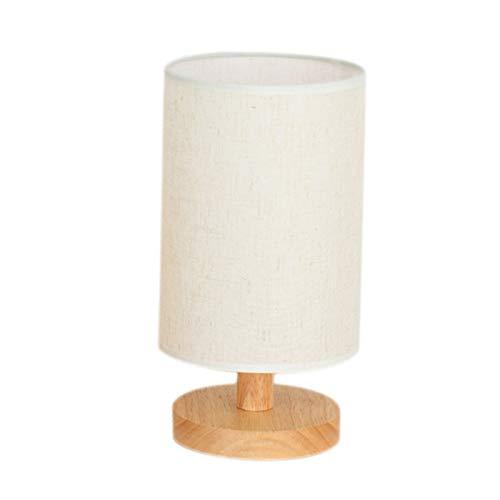 Fauge Dormitorio lámpara de cabecera de madera maciza regulable LED luz cálida registro caliente pequeña lámpara de mesa