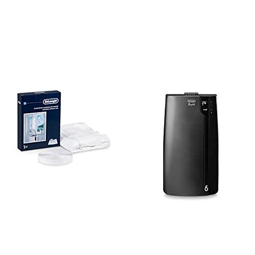 De\'Longhi Universal Fenster-Installationskit DLSA012, weiß + De\'Longhi Pinguino PAC EX120 Silent mobiles Klimagerät mit Abluftschlauch, Klimaanlage für Räume bis 110 m³, schwarz