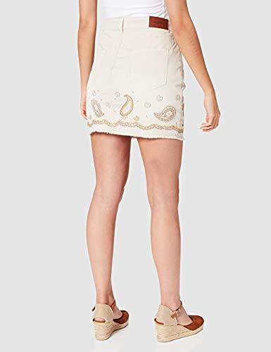 Desigual Womens FAL_Billi Jeans Skirt, Blanco, 24